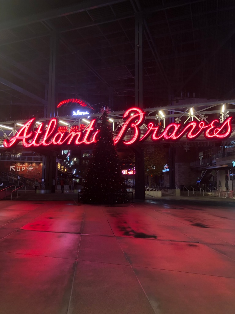 I'm a big Braves fan, and Christmas fan, had to take the pic despite the tree not being lit yet!